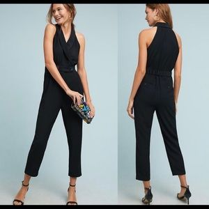 Anthro Cartonierre Menswear collar Jumpsuit Sz. 6